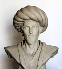 Artist representation bust of Ibn Al-Haytham produced by 1001 Inventions for the International Year of Light 2015