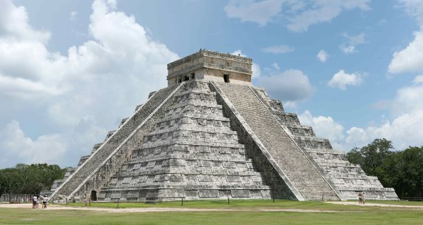 The pyramid El Castillo dominates the Chichen Itza archaeological site in the state of Yucatán, Mexico.
