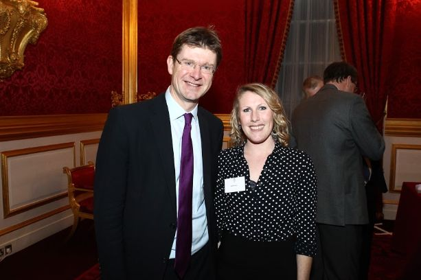 Science Minister Greg Clark and Kat Harrison (Solar Aid) spoke at the UK launch about the impact of light.