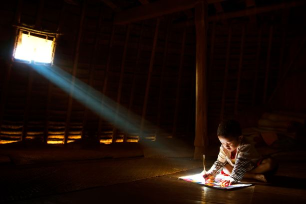 """Studying"" by Handi Laksono is the People's Choice Award winner in the SPIE International Year of Light Photo Contest ."